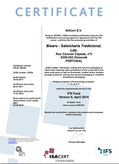 Certificação IFS Food