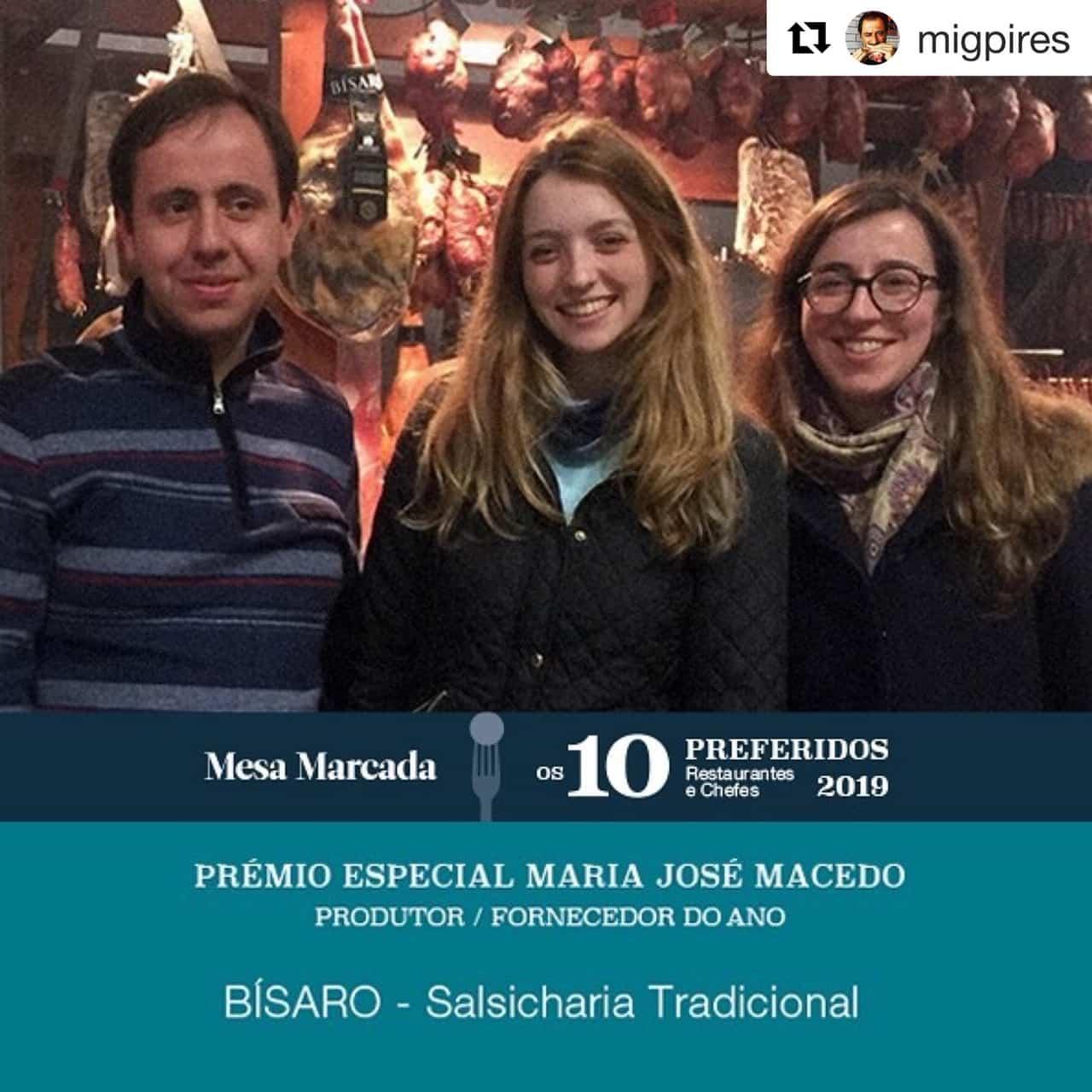 Bísaro - vence prémio produtor do ano Mesa Marcada
